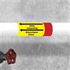"""Kennzeichnungsband für Rohrleitungen < 50 mm Ø - Gruppe 4 mit Text """"Erdgas"""""""
