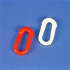Verbindungsglieder für Absperrketten - Farbe rot oder weiß