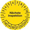 Prüfplakette Nächste Inspektion 2018 - 2023
