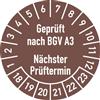 Prüfplakette Geprüft nach BGV A3 Nächster Prüftermin 2018 - 2023