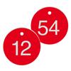 Werkzeugmarken mit gravierter, fortlaufender Nummerierung (max. 3-stellig)