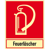 Kombischild Feuerlöschgerät mit Text Feuerlöscher
