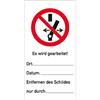 Schalten verboten! Es wird gearbeitet, 14,7x7,6 cm