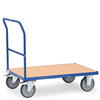 Schiebebügelwagen mit Holzplattform, Tragkraft 500 / 600 kg