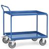 Tischwagen mit 2 Stahlblechwannen, Tragkraft 400 kg
