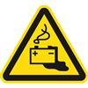 Warnung vor Gefahren durch das Aufladen von Batterien