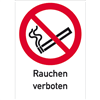 Kombischild Rauchen verboten