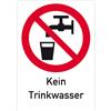 Kein Trinkwasser mit Symbol