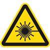Warnung vor Laserstrahl