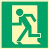Rettungsweg links quadratisch