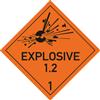 """Explosive Stoffe u. Gegenstände ... mit Text """"EXPLOSIVE"""" - Unterklasse 1.2"""