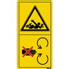 Sich nicht im Bereich der Antriebswelle aufhalten. Verletzungsgefahr!