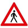 VZ-Nr. 133-20, Fußgänger (Aufstellung links)