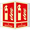 Winkelschild Feuerlöscher (Für elektrische Anlagen)