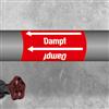 Kennzeichnungsband für Rohrleitungen < 50 mm Ø - Gruppe 2 Dampf