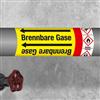Kennzeichnungsband für Rohrleitungen < 50 mm Ø - Gruppe 4 mit Gefahrensymbol