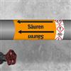 Kennzeichnungsband für Rohrleitungen < 50 mm Ø - Gruppe 6 mit Gefahrensymbol