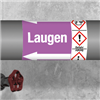 Kennzeichnungsband für Rohrleitungen > 50 mm Ø - Gruppe 7 mit Gefahrensymbol