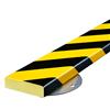 Warn- und Schutzprofil Typ S auf Edelstahlträger- Farbe gelb/schwarz
