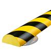 Warn- und Schutzprofil Typ C+ auf Edelstahlträger - Farbe gelb/schwarz