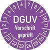 Prüfplakette DGUV Vorschrift geprüft 2021-2026