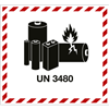 Gefahrzettel LITHIUM ION BATTERY UN 3480