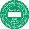 Prüfplakette Geprüft von nach BGV A3 2022 - 2031