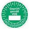 Prüfplakette Geprüft gemäß VDE 2020 - 2025