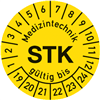 Prüfplakette Medizintechnik STK gültig bis 2019 - 2024
