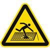 Warnung vor nicht durchtrittsicherem Dach