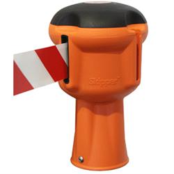 Leitkegelabsperrung Skipper, Gurt rot/weiß, 5x900 cm