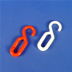 Einhängehaken weiß, 8 mm, Polyethylen