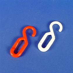 Einhängehaken rot, 6 mm, Polyethylen