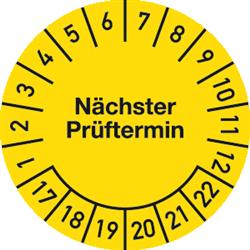 Prüfplakette Nächster Prüftermin 2017 - 2022