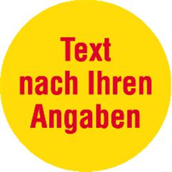 Markierungspunkte 2-farbig mit Beschriftung nach Wunsch
