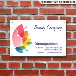 Firmen- und Werbeschilder aus Aluverbund