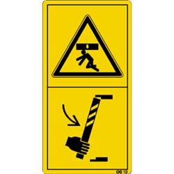 Der Aufenthalt im Gefahrenbereich ist ... Sicherheitsstütze zulässig.