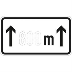 VZ-Nr. 1001-30, auf ... m