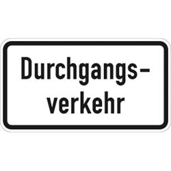 VZ-Nr. 1053-36, Durchgangsverkehr