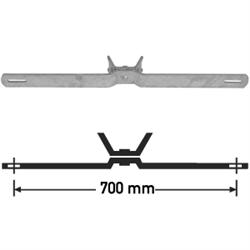 Bandschelle für Flach-Verkehrszeichen, Stahl, Lochabstand 700 mm