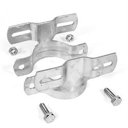 Doppel-Rohrschelle für Flach-Verkehrszeichen,Lochabstand 70mm,Pfosten-Ø 60,3 mm