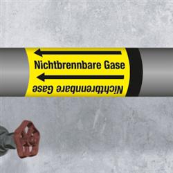 Kennzeichnungsband für Rohrleitungen < 50 mm Ø - Gruppe 5 Nichtbrennbare Gase