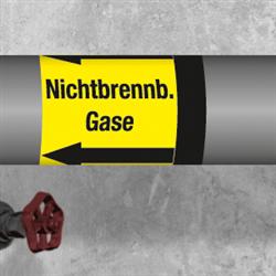 Kennzeichnungsband für Rohrleitungen > 50 mm Ø - Gruppe 5 Nichtbrennbare Gase
