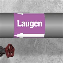 Kennzeichnungsband für Rohrleitungen > 50 mm Ø - Gruppe 7 Laugen