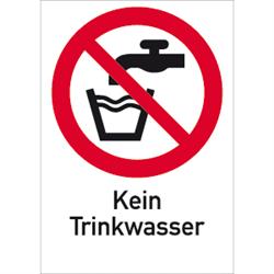 Kombischild Kein Trinkwasser