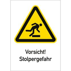 Vorsicht! Stolpergefahr