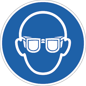 Augenschutz benutzen ISO 7010, Folie, Ø 31,5 cm