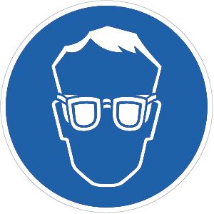 Augenschutz benutzen BGV A8, Kunststoff, Ø 20 cm