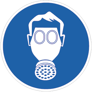Atemschutz benutzen BGV A8, Kunststoff, Ø 20 cm