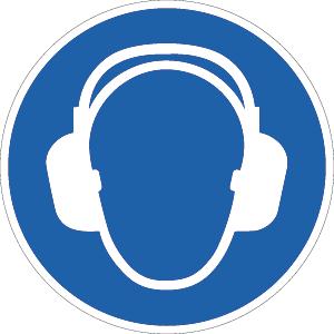Gehörschutz benutzen ISO 7010, Folie, Ø 31,5 cm